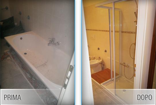Vasca Da Bagno Scheggiata : Rinnovare il bagno sostituendo la vecchia vasca con una doccia